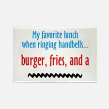 Burger Fries and a Shake Rectangle Magnet (10 pack