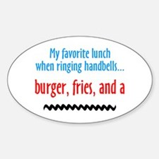 Burger Fries and a Shake Oval Decal