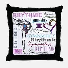 I Heart Rhythmic Gymnastics Throw Pillow