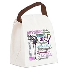 I Heart Rhythmic Gymnastics Canvas Lunch Bag