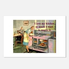 Love My Kitchen Postcards (Package of 8)