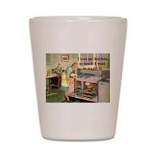 Love My Kitchen Shot Glass