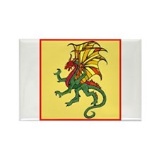 Chinese Flying Dragon Rectangle Magnet