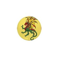 Chinese Flying Dragon Mini Button