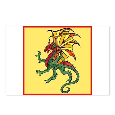 Chinese Flying Dragon Postcards (Package of 8)
