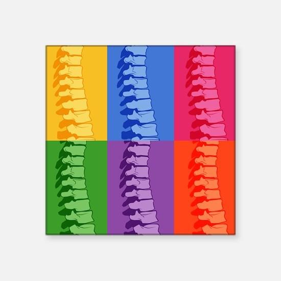 """Spine Pop Art Square Sticker 3"""" x 3"""""""