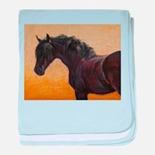 Friesian Horse baby blanket