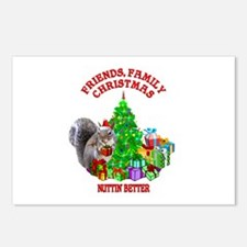 Christmas Squirrel Postcards (Package of 8)