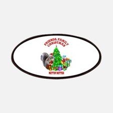 Christmas Squirrel Patches