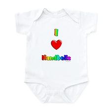 I love handbells Infant Bodysuit