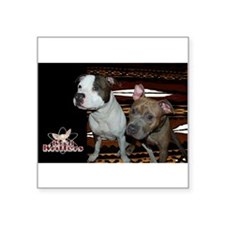 "Kratos & Blue: Brotha's Square Sticker 3"" x 3"""