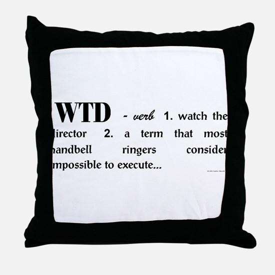 Watch the Director Throw Pillow