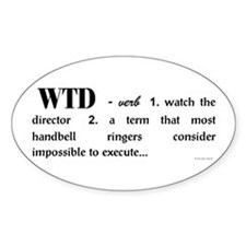 Watch the Director Oval Decal