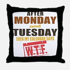 Calendar says WTF Throw Pillow