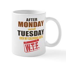 Calendar says WTF Mug