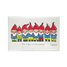 Gnomes Rectangle Magnet