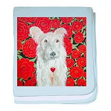 """Terrier Love"" baby blanket"
