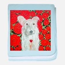 """Terrier Love"" baby blanket"