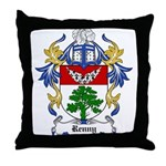 Renny Coat of Arms, Family Cr Throw Pillow