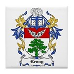 Renny Coat of Arms, Family Cr Tile Coaster
