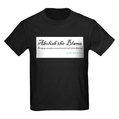 Abolish the Blame 2012 Kids Dark T-Shirt