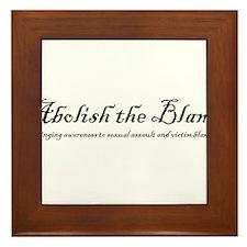 SlutWalk Richmond's motto - Abolish the Blame Fram