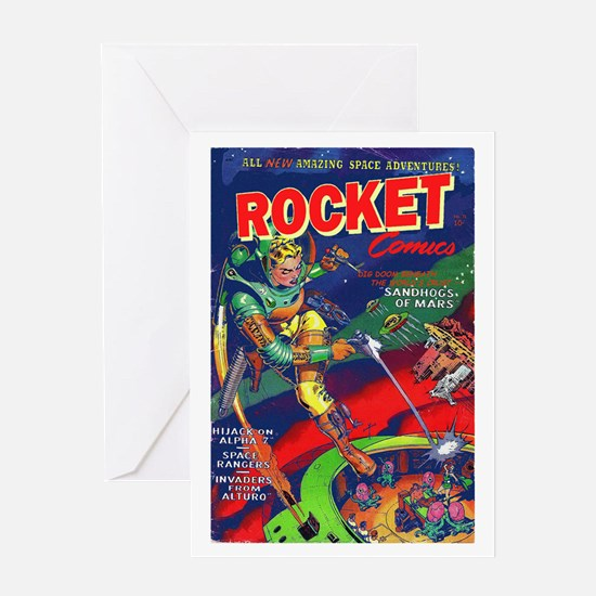 Rocket Comics #71 Greeting Card
