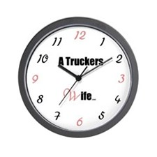 A Truckers Wife (original) Wall Clock