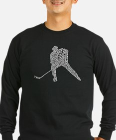 Hockey Player Typography T