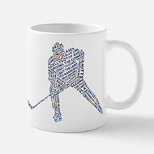 Hockey Player Typography Mug