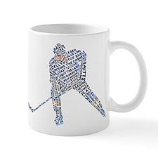 Hockey Player Typography Small Mug