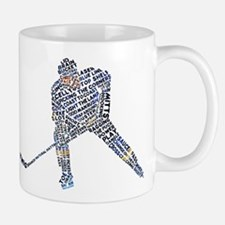 Hockey Player Typography Small Small Mug