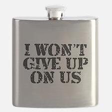 I Won't Give Up: Unisex Flask