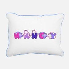 Nancy in Hippos Rectangular Canvas Pillow