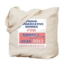 Conservative Momma for Romney Tote Bag