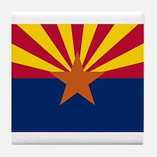 Arizona flag Tile Coaster