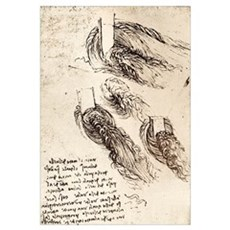 Notes by Leonardo da Vinci Poster