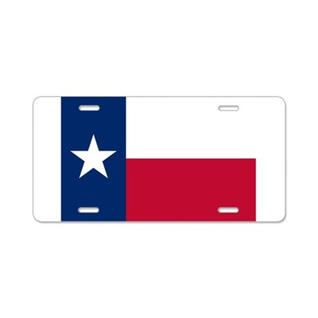 Texas flag Aluminum License Plate