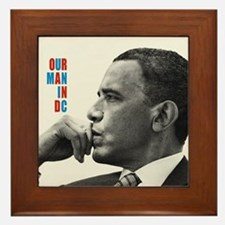 Barack Obama OUR MAN IN D.C. Jazz Album Cover Fram