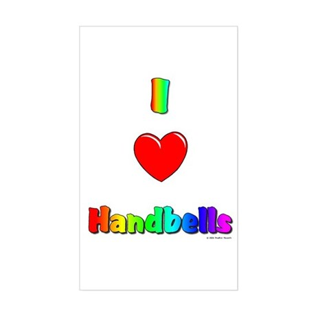 I love handbells Rectangle Sticker