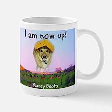 Barney Boots - I Am Now Up Mug