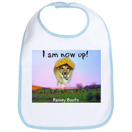 Barney Boots - I Am Now Up Bib