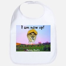 Barney Boots - I Am Now Up Bib