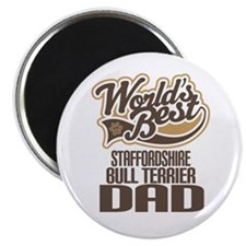 Staffordshire Bull Terrier Dad Magnet