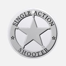Single Action Shooter Ornament (Round)