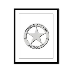 Single Action Shooter Framed Panel Print