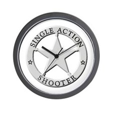 Single Action Shooter Wall Clock