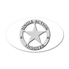 Single Action Shooter Wall Decal