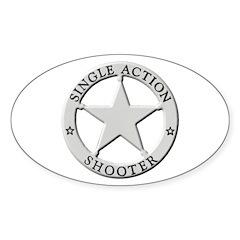 Single Action Shooter Sticker (Oval 10 pk)