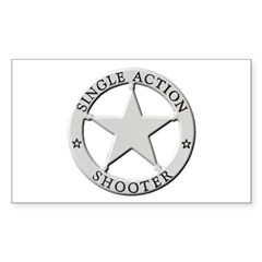 Single Action Shooter Sticker (Rectangle)